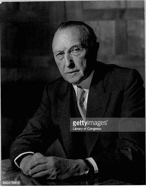 Konrad Adenauer, the first Chancellor of the Federal Republic of Germany.