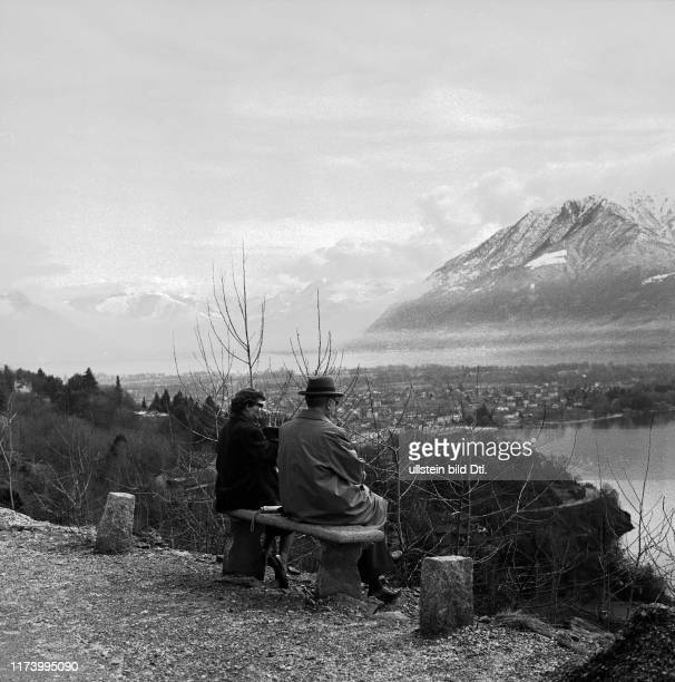 Konrad Adenauer with his daughter in Ascona Konrad Adenauer with his daughter in Ascona