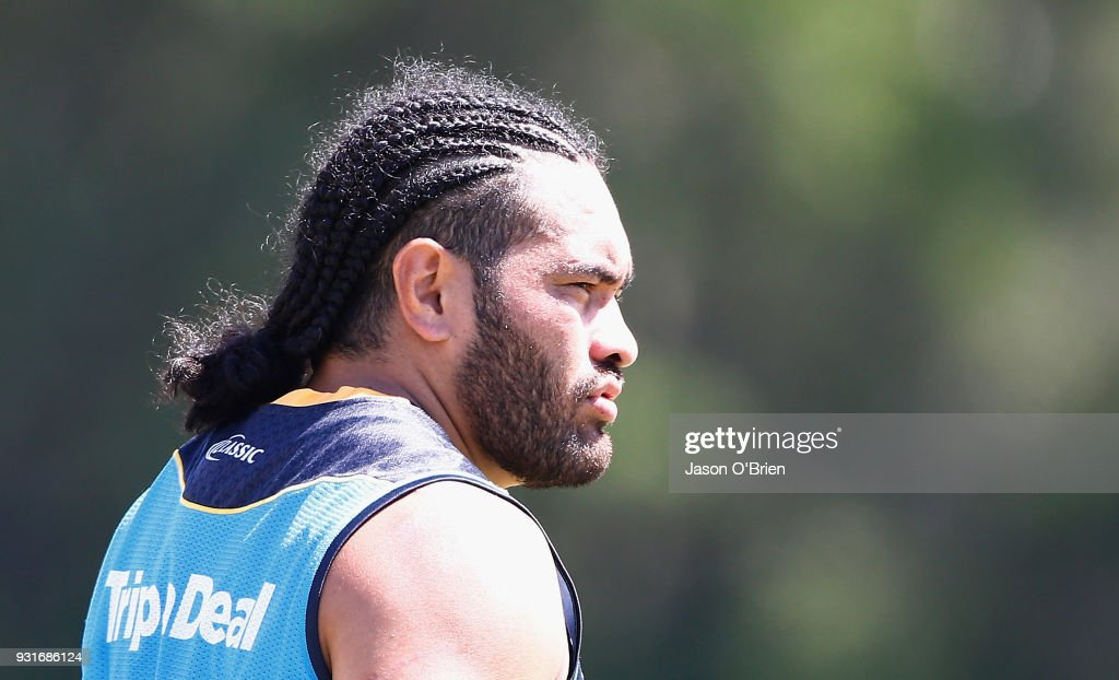 Konrad Hurrell during a Gold Coast Titans NRL training session at Parkwood on March 14, 2018 in Gold Coast, Australia.
