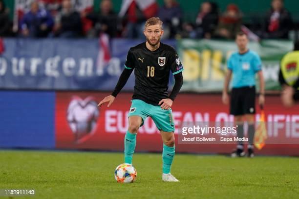 Konrad Laimer of Austria during the UEFA Euro 2020 Qualifier between Austria and North Macedonia on November 16 2019 in Vienna Austria