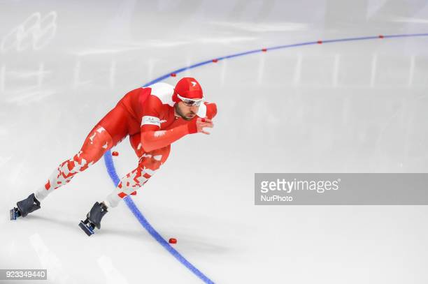 Konrad Niedzwiedzki of Poland at 1000 meter speedskating at winter olympics Gangneung South Korea on February 23 2018