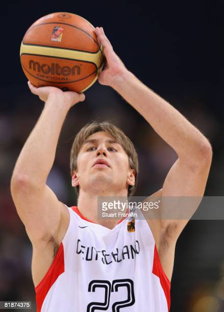 Konrad Wysocki of Germany in action during the international friendly basketball game between Germany and Canada at the Color Line Arena on July 9...