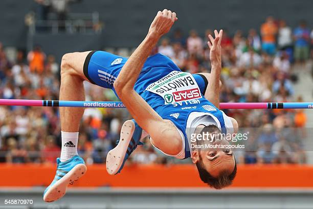 Konstadinos Baniotis of Greece in action during the final of the mens high jump on day five of The 23rd European Athletics Championships at Olympic...