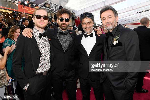 Konstantin Bock Christopher Aoun Pierre Sarraf and Talal Derki attend the 91st Annual Academy Awards at Hollywood and Highland on February 24 2019 in...