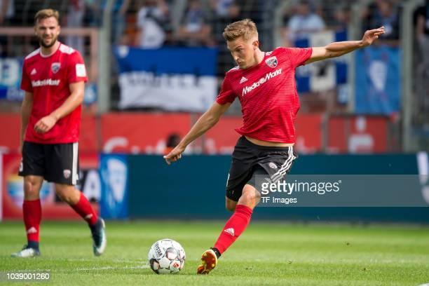 Konstantin Kerschbaumer of FC Ingolstadt controls the ball during the Second Bundesliga match between VfL Bochum 1848 and FC Ingolstadt 04 on...