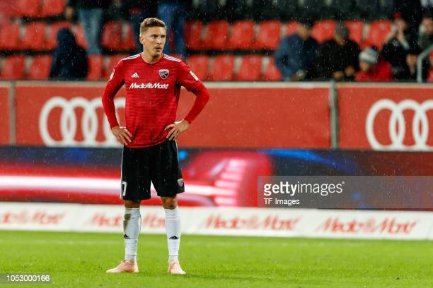 Konstantin Kerschbaumer of FC Ingolstadt looks on during the Second Bundesliga match between FC Ingolstadt 04 and 1 FC Union Berlin at Audi Sportpark...