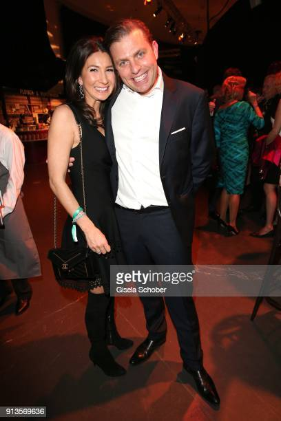 Konstantin Sixt and his wife Noni Sixt during Michael Kaefer's 60th birthday celebration at Postpalast on February 2 2018 in Munich Germany