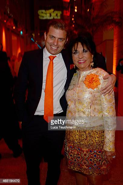 Konstantin Sixt and Regine Sixt attend The Night The Winners Meet Party Hosted By Sixt on March 3 2015 in Berlin Germany
