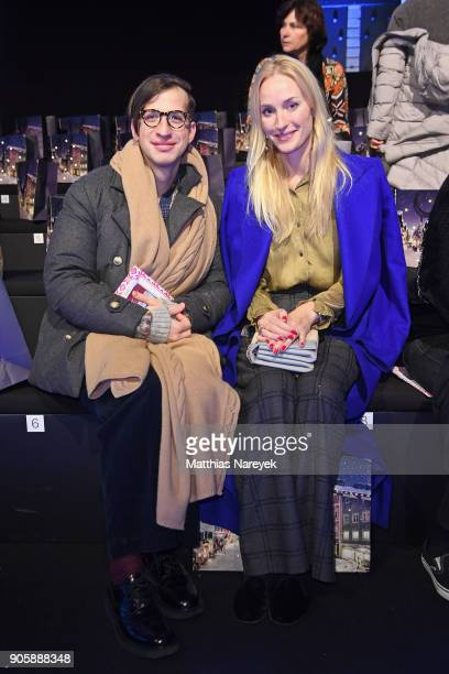 Konstantin Spachis and Petra Winter attend the Sportalm show during the MBFW Berlin January 2018 at ewerk on January 17 2018 in Berlin Germany