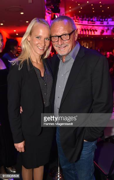 Konstantin Wecker and his wife Annik Wecker during the 70th anniversary celebration of the tabloid newspaper Abendzeitung at Deutsches Theatre on...