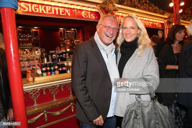 Konstantin Wecker and his wife Annik Wecker during the premiere of the Circus Roncalli '40 Jahre Reise zum Regenbogen' on October 7 2017 in Munich...