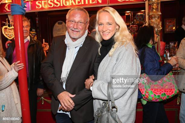 Konstantin Wecker and his wife Annik Wecker during the premiere of the Circus Roncalli show '40 Jahre Reise zum Regenbogen' on October 7 2017 in...