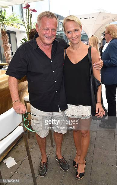 Konstantin Wecker and his wife Annik Wecker during the 'Sommerfest der Agenturen' at Hugo's on June 25 2016 in Munich Germany