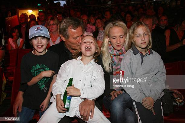 Konstantin Wecker With wife Annik children Valentin And Amino And friend Luka In The Gala Premiere Of '30 years Roncalli' In Munich