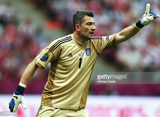 Konstantinos Chalkias of Greece in action during the UEFA EURO 2012 group A match between Poland and Greece at The National Stadium on June 8 2012 in...