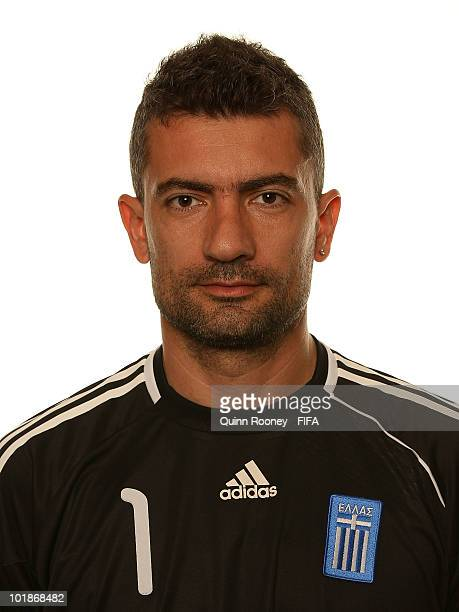 Konstantinos Chalkias of Greece poses during the official FIFA World Cup 2010 portrait session on June 7 2010 in Durban South Africa