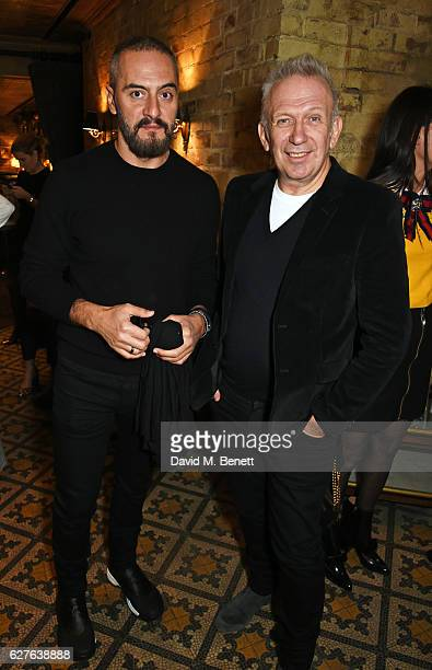 Konstantinos Katalakinos and JeanPaul Gaultier attend The Fashion Awards in partnership with Swarovski nominees' lunch hosted by the British Fashion...