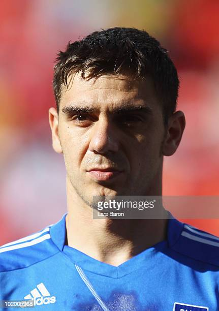 Konstantinos Katsouranis of Greece during the 2010 FIFA World Cup South Africa Group B match between South Korea and Greece at Nelson Mandela Bay...