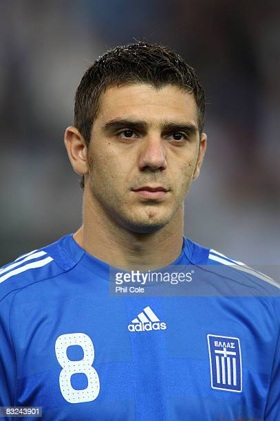 Konstantinos Katsouranis of Greece during the Group Two FIFA World Cup 2010 qualifying match between Greece and Moldova held at the Georgios...