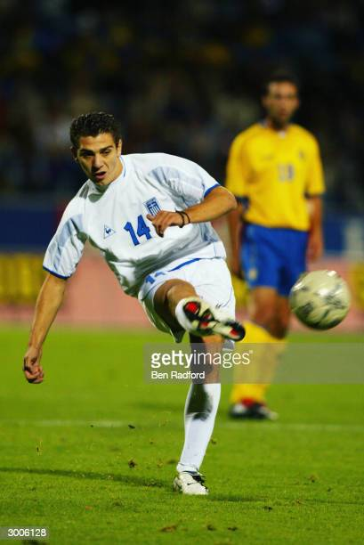 Konstantinos Katsouranis of Greece in action during the international friendly match against Sweden at the Norkopping Stadium on August 20th 2003...