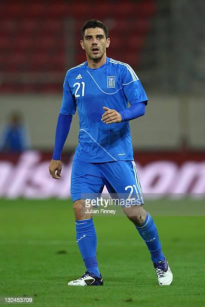 Konstantinos Katsouranis of Greece looks on during the international friendly match between Greece and Russia at the Karaiskakis Stadium on November...