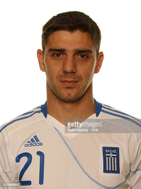 Konstantinos Katsouranis of Greece poses during the official FIFA World Cup 2010 portrait session on June 7 2010 in Durban South Africa
