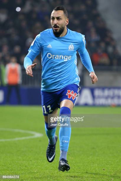 Konstantinos Kostas Mitroglou of OM during the French Ligue 1 match between Olympique Lyonnais and Olympique de Marseille at Groupama Stadium on...