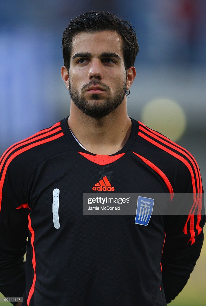 Konstantinos Lamprou of Greece looks on during the UEFA U21 Championship match between Greece and England at the Asteras Tripolis Stadium on September 8, 2009 in Tripolis, Greece.