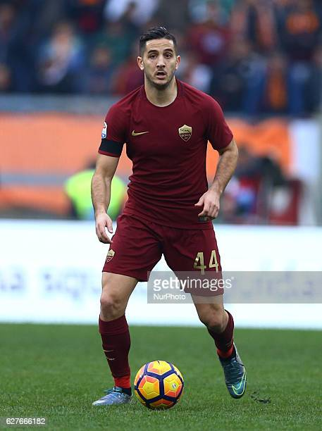 Konstantinos Manolas of AS Roma during the Italian Serie A football match between SS Lazio and AS Roma at the Olympic Stadium in Rome on december 04...
