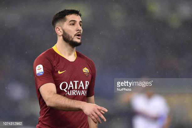 Konstantinos Manolas of AS Roma during the Serie A match between Roma and Genoa at Stadio Olimpico Rome Italy on 16 December 2018