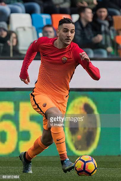 Konstantinos Manolas of AS Romaduring the Italian Serie A match between Udinese and AS Roma at Dacia Arena on January 15 2017 in Udine Italy