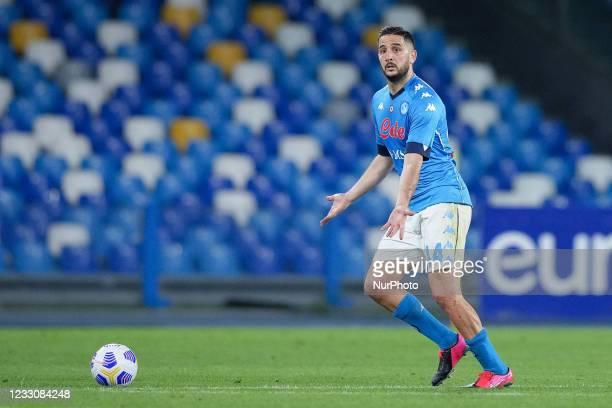 Konstantinos Manolas of SSC Napoli during the Serie A match between SSC Napoli and Hellas Verona at Stadio Diego Armando Maradona, Naples, Italy on...