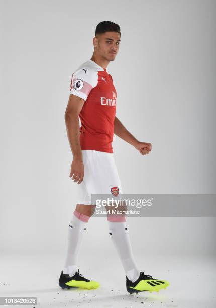 Konstantinos Mavropanos of Arsenal at London Colney on August 8 2018 in St Albans England