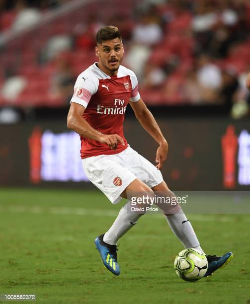 Konstantinos Mavropanos of Arsenal during the International Champions Cup 2018 match between Club Atletico de Madrid and Arsenal at the National...