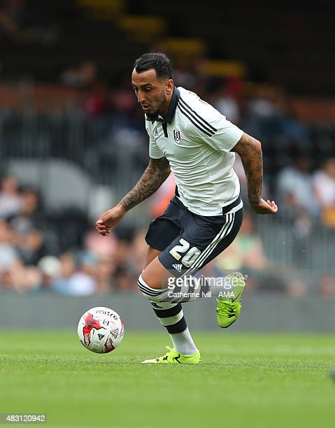 Konstantinos Mitroglou of Fulham during the preseason friendly between Fulham and Watford at Craven Cottage on August 1 2015 in London England