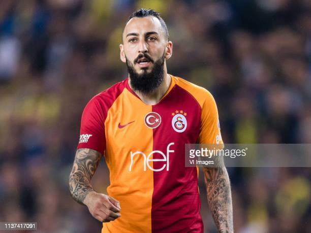 Konstantinos Mitroglou of Galatasaray SK during the Turkish Spor Toto Super Lig football match between Fenerbahce AS and Galatasaray AS at the Sukru...