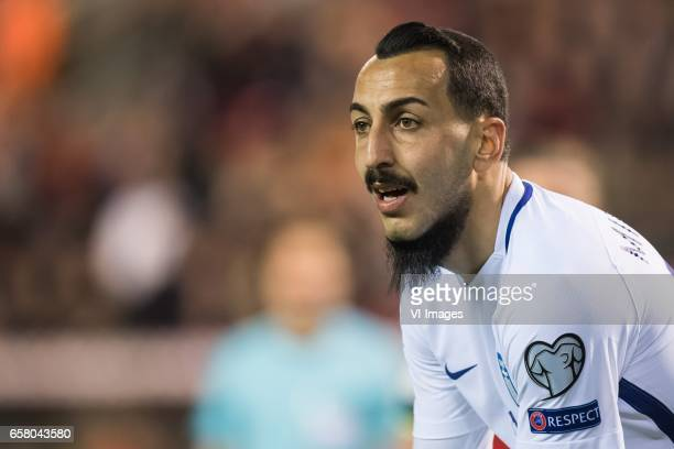 Konstantinos Mitroglou of Greeceduring the FIFA World Cup 2018 qualifying match between Belgium and Bosnie Herzegowina on October 07 2016 at the...