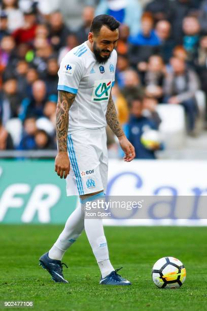 Konstantinos Mitroglou of Marseille during the french National Cup match between Marseille and Valenciennes on January 7 2018 in Marseille France