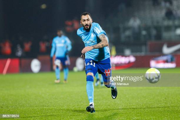 Konstantinos Mitroglou of Marseille during the Ligue 1 match between Metz and Olympique Marseille at Stade Saint Symphorien on November 29 2017 in...