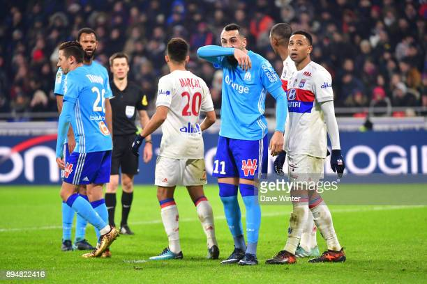 Konstantinos Mitroglou of Marseille during the Ligue 1 match between Olympique Lyonnais and Olympique Marseille at Parc Olympique on December 17 2017...