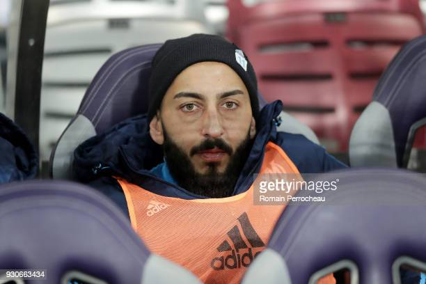 Konstantinos Mitroglou of Marseille looks on before the Ligue 1 match between Toulouse and Olympique Marseille at Stadium Municipal on March 11 2018...