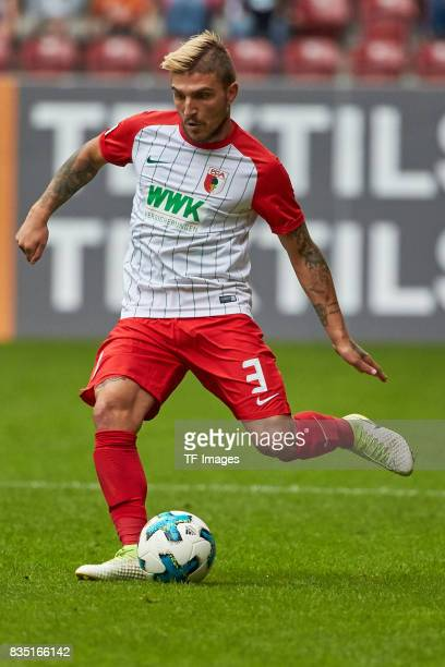Konstantinos Stafylidis of Augsburg controls the ball during the preseason friendly match between FC Augsburg and PSV Eindhoven on August 6 2017 in...