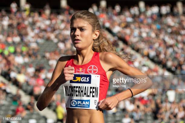 Konstanze Klosterhalfen competes during 5000m Women Final during German Athletics National Championship on August 03 2019 at Olympiastadion in Berlin...