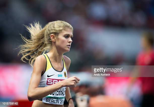 Konstanze Klosterhalfen from Germany during the Women's 5000m Final on day six of the 24th European Athletics Championships at Olympiastadion on...