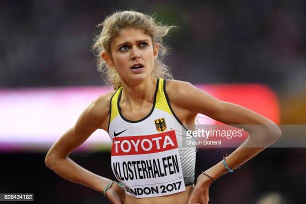 Konstanze Klosterhalfen of Germany competes in the Women's 1500 metres during day one of the 16th IAAF World Athletics Championships London 2017 at...