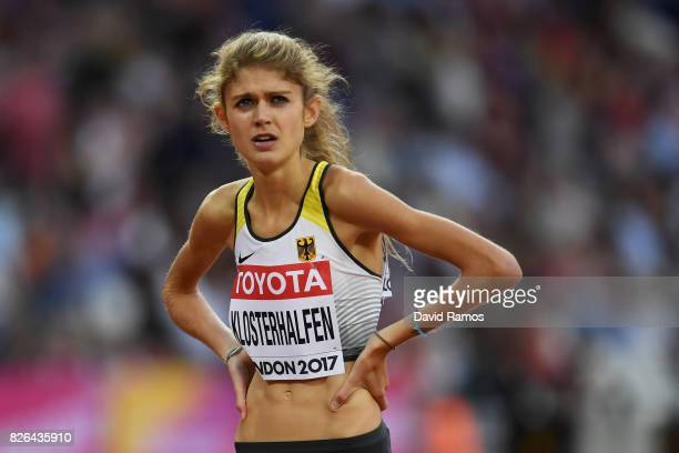 Konstanze Klosterhalfen of Germany competes in the Women's 1500 metres heats during day one of the 16th IAAF World Athletics Championships London...