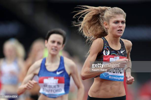 Konstanze Klosterhalfen of Germany in action during the Women's 1 Mile race during the Muller Birmingham Grand Prix & IAAF Diamond League event at...