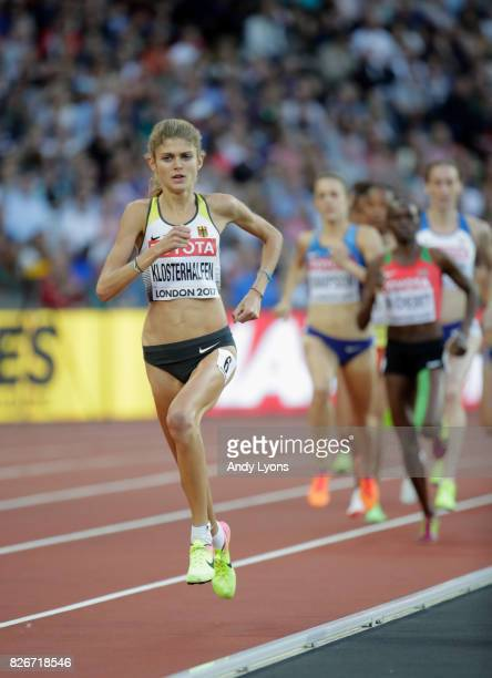 Konstanze Klosterhalfen of Germany leads the Women's 1500 metres semi final during day two of the 16th IAAF World Athletics Championships London 2017...