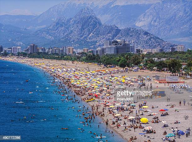 konyaalti beach - antalya province stock pictures, royalty-free photos & images