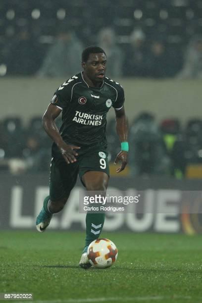 Konyaspor forward Malick Evouna from Gabon during the match between Vitoria Guimaraes and Atiker Konyaspor match for UEFA Europa League at Estadio da...